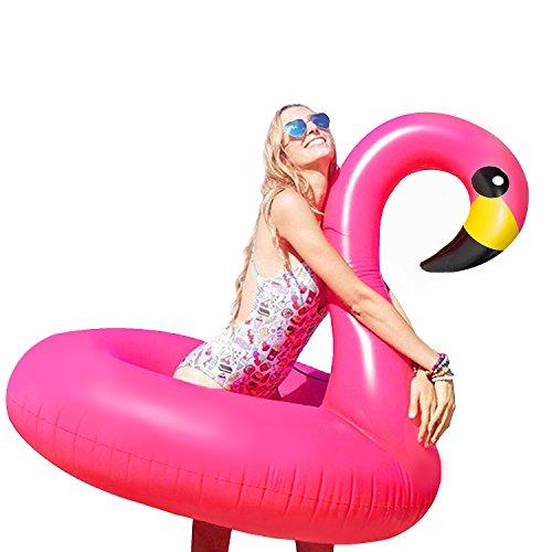 Bramble Fenicottero Rosa Gonfiabile Grande, 116x96cm - Gommone Flamingo