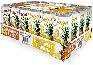Dole Jaya Juice Pineapple/Mango and Pineapple/Banana, 8.4 Ounce, 24 Count