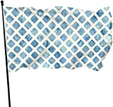 Viplili Flagge/Fahne, Wallcoverings Diamond Watercolors Flag 3x5 Ft, Double Stitched Polyester with Brass Grommets 3x5 Feet Flags for Outdoor Indoor Home Decor