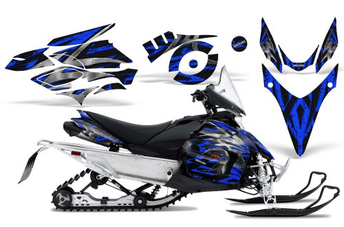 CreatorX Graphics Kit Decals Stickers for Yamaha Phazer Rtx Gt Mtx 07-14 Snowmobile Sled Bolt Thrower Blue
