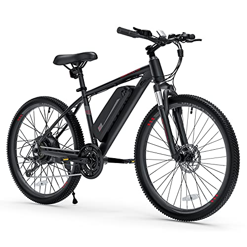 Cybertrack 100 26' Electric Bike, 3 Hours Fast Charge, BAFANG 350W Brushless...