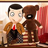 yqs Peluche 2pcs 30cm Movie Mr Bean Teddy Bear Giocattoli di Peluche Peluche Carino Mr.Bean Teddy Bear Giocattoli di Peluche per Bambini Regali Regalo di Compleanno