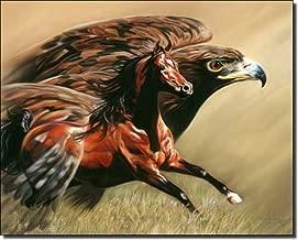 Spirits Take Flight by Kim McElroy - Horse Equine Art Ceramic Accent Tile 8