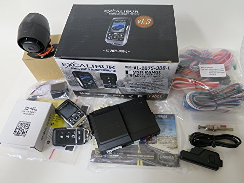 Excalibur AL-2075-3DB-L 2 Way 1 Mile Range Alarm Remote Start System