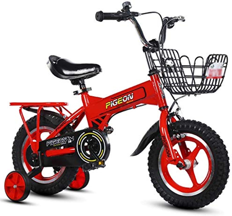 LI HAO SHOP Kinderfahrrder, Babyfahrrder, Kinder-Mountainbikes, Mountainbikes, Kindergeschenke (Farbe   rot, Größe    2-12 in)