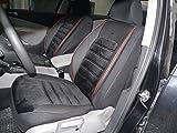 Cubiertas para asientos de automóvil negro-rojo protectores juego completo ara los asientos delanteros y traseros fundas de asiento