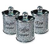 shentaotao Tov Diamante machacado té CFEE azúcar Botes jarras de Almacenamiento de Plata Pasamanería de Cristal Lleno