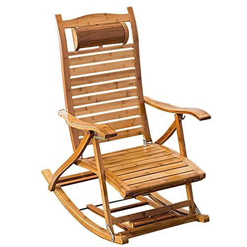 LLMY liegestuhl Schwerelosigkeitsliege, Klappbarer Liegestuhl Aus Holz, 6 Positionen Verstellbare Rückenlehne, Verbreiterung Der Armlehnen, Massagerolle, für Balkon Outdoor Camping