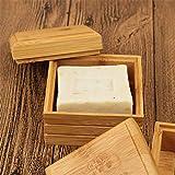 Umweltfreundliche Bambus Seifenschale aus Holz Container Reise Seifenschale Box Cas Soap Fall Halter...