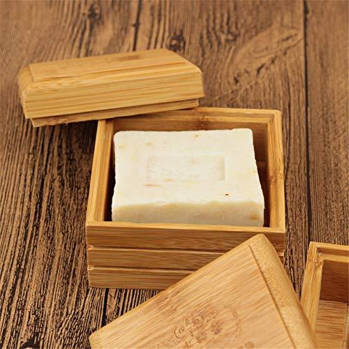 Umweltfreundliche Bambus Seifenschale aus Holz Container Reise Seifenschale Box Cas Soap Fall Halter Seifenaufbewahrungsbehälter Zubehör für das Badezimmer