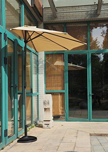 ombrellone da giardino mezzaluna OMBRELLONE A PARETE 1/2 TONDO DIAM.CM.270