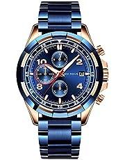 STONE 腕時計 メンズ クォーツ ステンレス 多機能 ウォッチ おしゃれ かっこいい 男性 時計 防水 クロノグラフ 日付表示