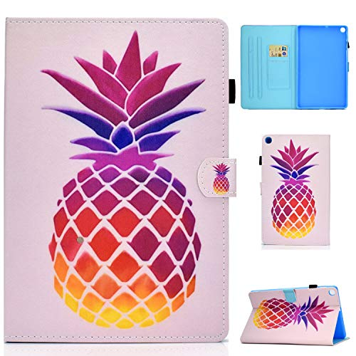 WHWOLF Case for Samsung Galaxy Tab A7 10.4 2020 SM-T500/ SM-T505, Multi-Angle Viewing Kickstand Cover PU Leather Case Anti-Scratch Soft Silicone Back Shell -q74