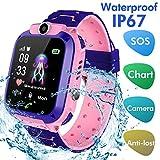 Jaybest Smartwatch Enfants étanche- Montre Intelligente Téléphone Compatible iOS Android pour Les Enfants 3-12 Filles...