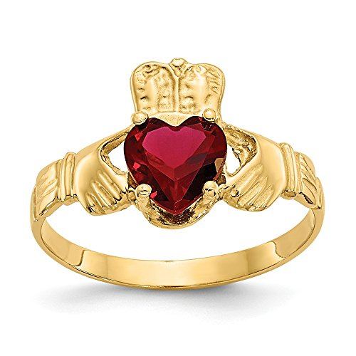 Jewels By Lux 14 K Anillo Claddagh enero Birthstone