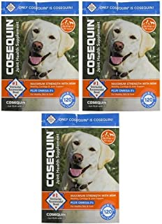 Nutramax Cosequin DS Joint Health Plus MSM Soft Chews 360ct (3 x 120ct)