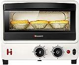 10L Forno elettrico, 30 minuti Temping Frying Arrentando Cooking Sale Mash Tubo al quarzo Tubo Riscaldamento Grigliata Padella e muffa a forma di cuore - Bianco Verde (Colore: Bianco)