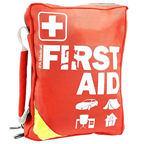 JFA Medical Erste-Hilfe-Set Tasche, für Zuhause, Arbeitsplatz, Auto, Reisen und Outdoor, 185 Stück