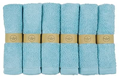 """The Motherhood Collection 6 Pack Ultra Soft Baby Bath Washcloths, Rayon from Bamboo Towels, Perfect Baby Gifts 