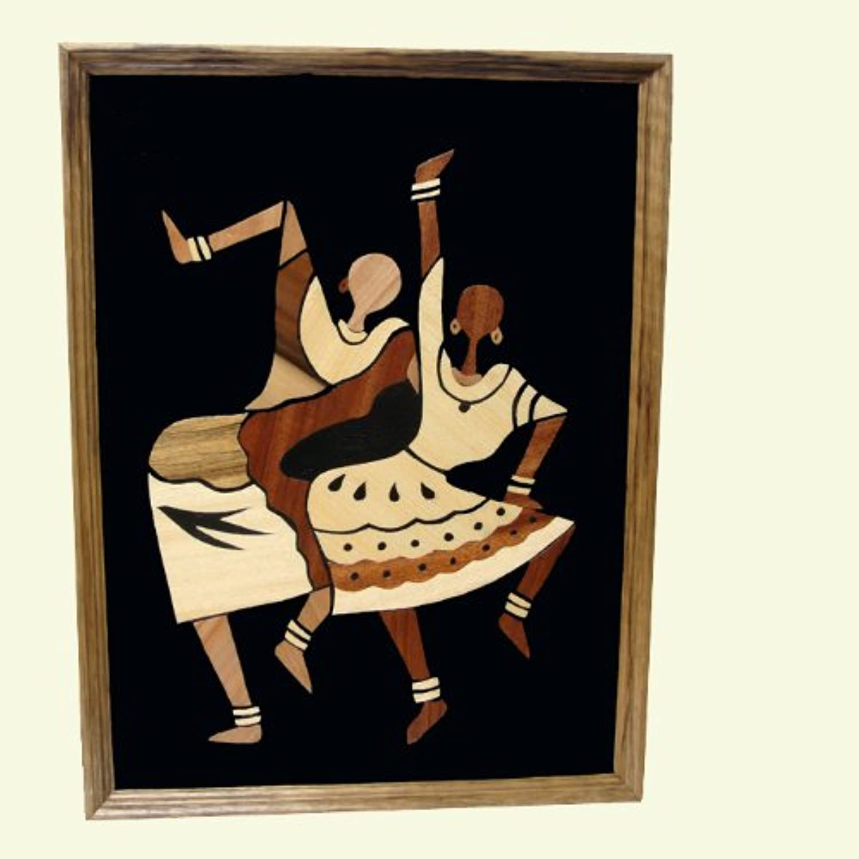 African Wood Overlay - Body Moves - Handmade in Ghana