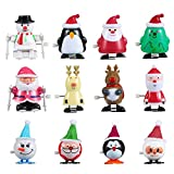 ThinkMax Jouets à remonter, 24 pièces Noël Wind Up Toys Assortiment pour des Cadeaux de fête de Noël Goody Sac de Remplissage