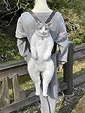 Bolso de gato de simulación hecho a mano - Mini bolso de gato Mochila de hombro Bolsas cruzadas de viaje exteriores, Mochila de gato de felpa de algodón lindo para niños pequeños y niños, Negro