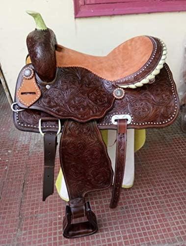 Tasmiya Leather Horse Saddle Western Free shipping anywhere in the nation Set Ranking TOP18 Barrel Tack with