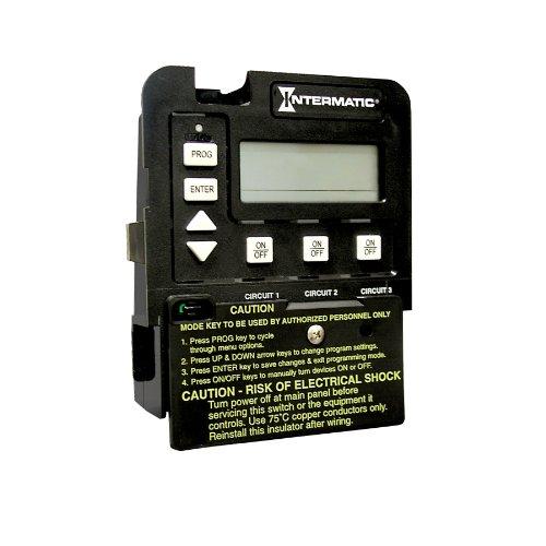 Intermatic P1353ME 3-Circuit Pool/Spa Digital Time Switch, Black