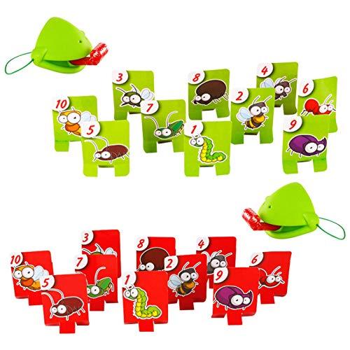 meetgre Tongue Catch Bugs Game, Interactive Desktop Frog Eating Mosquito Divertido Juego De Mesa, Frog Card Toys Juegos De Escritorio Juegos De Cartas, Juego Educativo De Interacción para Niños