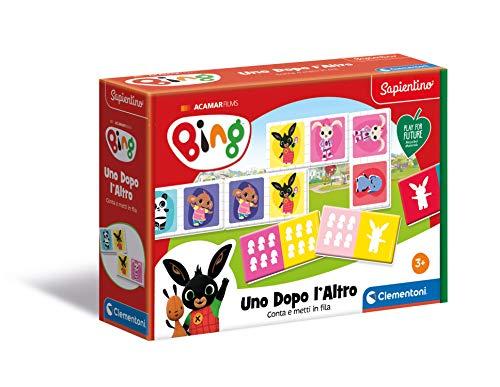 Clementoni - 16283 - Sapientino - Gioco Bing - Uno Dopo L'Altro, domino numeri - Play for Future - Made in Italy, gioco educativo bambini 3 anni (versione in Italiano), cartone 100% riciclato