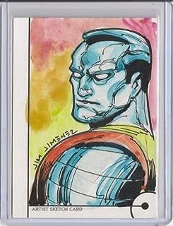 2013 Marvel Fleer Retro Colossus Sketch 1/1 Jim Jimenez Artist