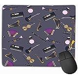 Alfombrilla para ratón, Alfombrilla para ratón Instrumentos Musicales Diferentes Sintetizador Batería Acordeón Violín Arpa de Trompeta Tambor Saxofón Guitarra eléctrica 25 * 30CM