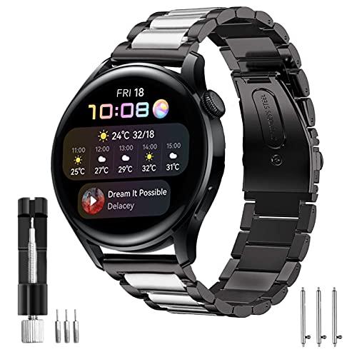 HATALKIN Correa Reloj Compatible con Huawei Watch 3 /Huawei Watch 3 Pro,Correa 22mm Acero Inoxidable Metal Pulsera para Huawei Watch 3 / Watch3 Pro