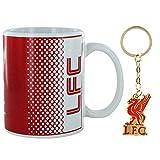 L.F.C - Juego de taza y llavero oficial de fútbol de Liverpool (cerámica, 325 ml)