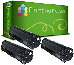 Printing Pleasure 2 Compatibles CE285A 85A Cartuchos de tóner para HP Laserjet Pro P1102 P1102W M1210 M1212 M1212NF M1213NF M1217NFW M1130 M1132 M1132MFP M1134 M1136 P1100 - Negro, Alta Capacidad