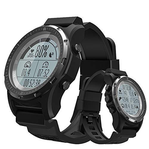 MHCYKJ Hombre del Reloj, los satélites GPS + + GLONAS Beidou para ejercer calcular la trayectoria de grabación Bluetooth rastreador de Ejercicios Datos con Monitor de Ritmo cardíaco,