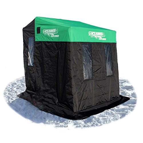 Ice Runner 2 Person Sled House, Green
