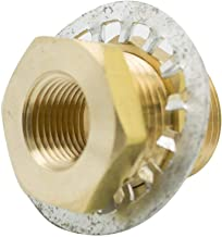 Vis Brass Pipe Fitting, Bulkhead Coupling, Anchor Coupler, 3/8