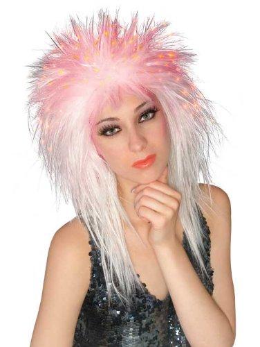 Rubie's Spiky Fiber Optic Wig, White, One Size