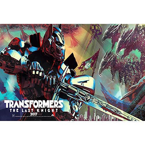 puzzles Optimus Prime Transformers Niños 1000 Piezas Juguetes Educativos De Madera De Descompresión para Adultos(Color:UNA)