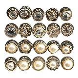 Healifty 40Pcs Bottoni di Perle Rotonde Decorative Borchie di Perle Decorative Bottoni da ...