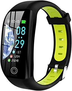 WUHUAROU Pulsera de Fitness con medición de presión Fitness Health Cardio Pulsera Frecuencia cardíaca Podómetro en Sangre Pulsera Inteligente (Color : Green)