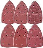 72 Hojas De Papel De Lija Con Velcro Para Madera Y Metal 11 Agujeros (105 X 152 mm): P40/P60/ P80/ P120/ P180/ P240 para lijadora delt