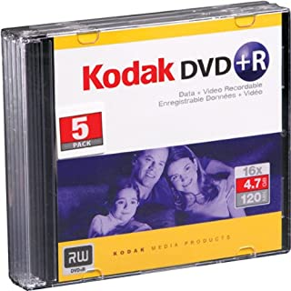 DVD Recordable Media - DVD+R - 16x - 4.70 GB - 5 Pack Slim Jewel Case