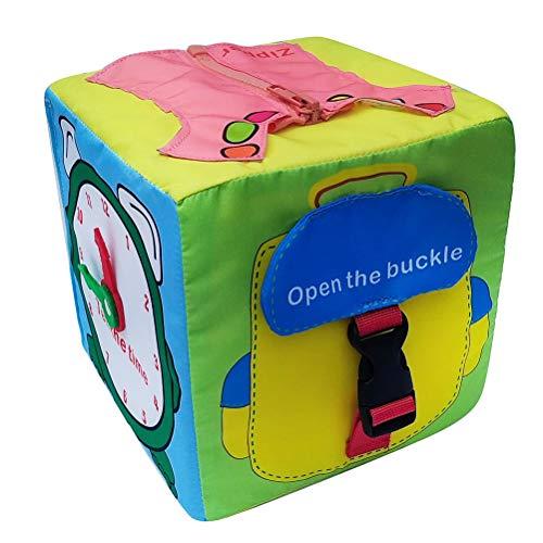 Daxoon Lernwürfel Lernspielzeug Box Lernspielzeug Lernbox Routine Lernen, Dressing Lernen, Neue, frühkindliche Bildung