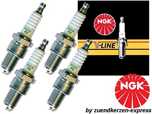 4x NGK 6237 Zündkerze V-LINE 17 für MERCEDES W202 S202 W210 S210 PEUGEOT 309 1 2