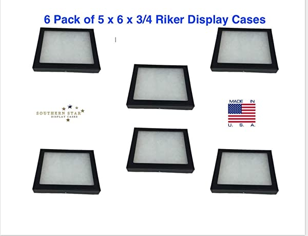 Southern Star 6 Pack Of Riker Display Cases 5 X 6 X 3 4 For Collectibles Arrowheads More