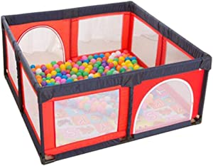 LXDDP Playpen Extra High Toddlers Playpen with Crawling Mat  Anti-collision Baby Play Game Fence with Ocean Balls  Kids Playard for Activity Center