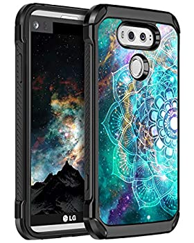 BENTOBEN Compatible with LG V20 Case Shockproof 2 in 1 Hybrid Hard PC Soft TPU Bumper Glow in The Dark Noctilucent Slim Dual Layer Resistant Protective Phone Cover for LG V20 Mandala in Galaxy