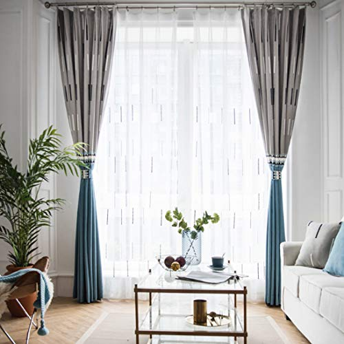yug Sonnenschutzfarbe Kinderschattierung Wohnzimmer Vorhang Fenster Französisch Stoff Schlafzimmer Grau Blau Zimmer Zimmer Fenster Bucht Nähte Feste Dekoration